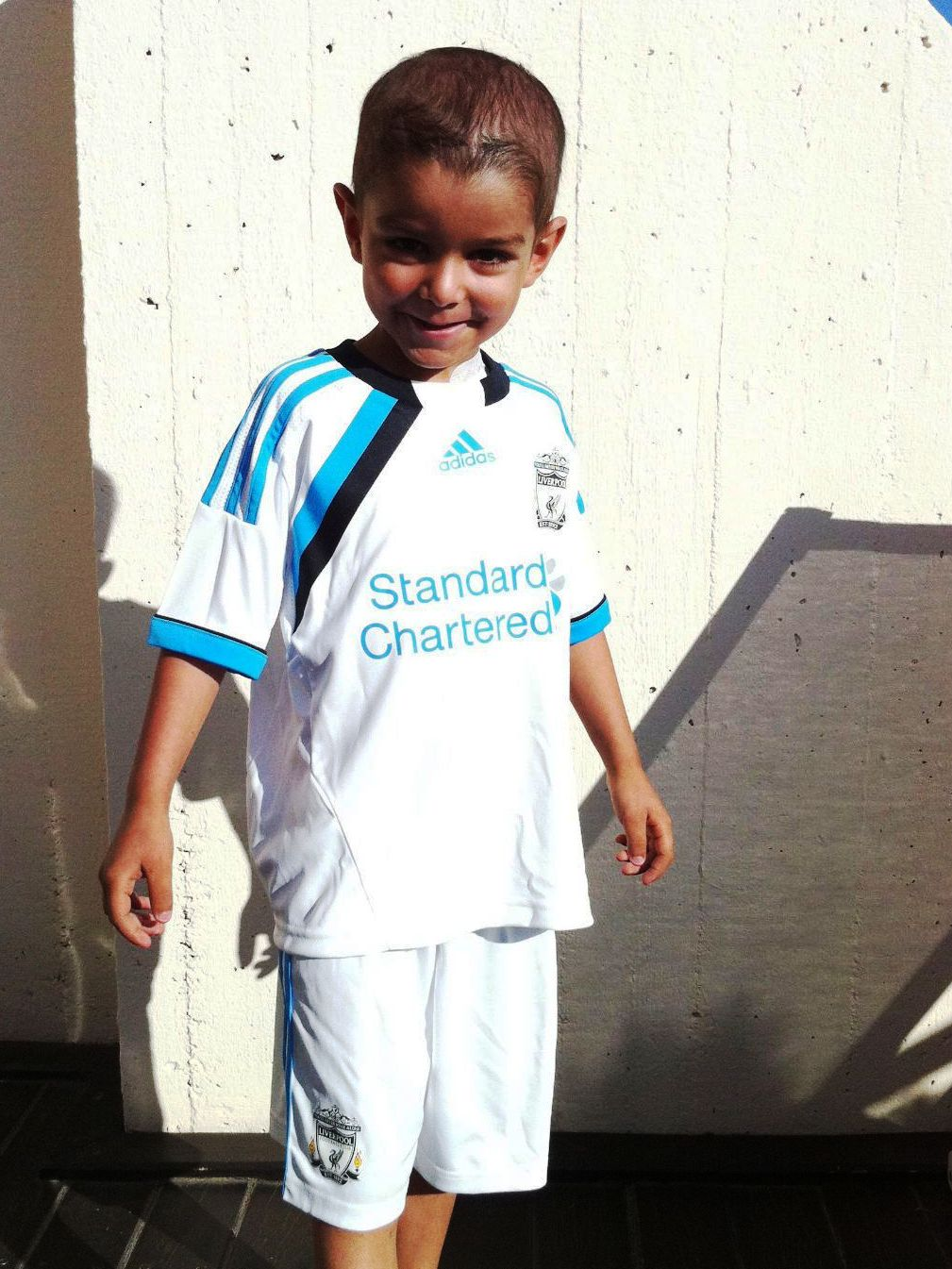 Luca in his Liverpool kit