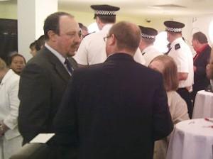 Rafa Benitez at the launch of the Montse Benitez Foundation