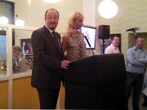 Rafa Benitez and wife Montse at the launch of the Montse Benitez Foundation