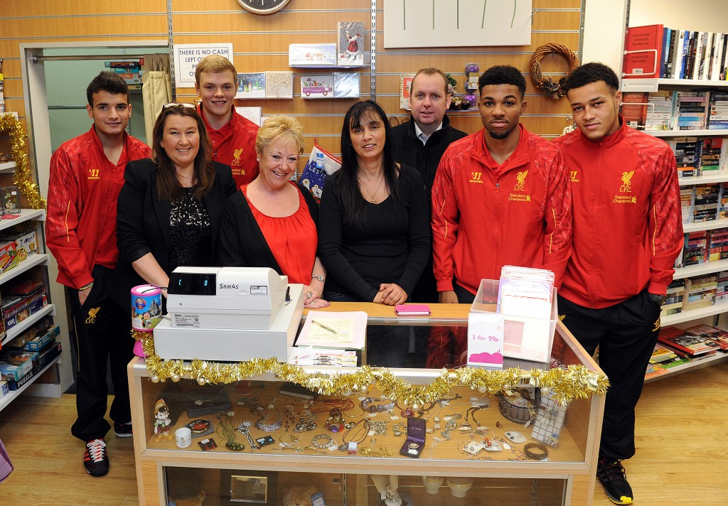 Liverpool FC donated boxes of kit to Claire House