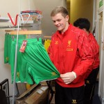 The Academy players helped ready the kit for sale