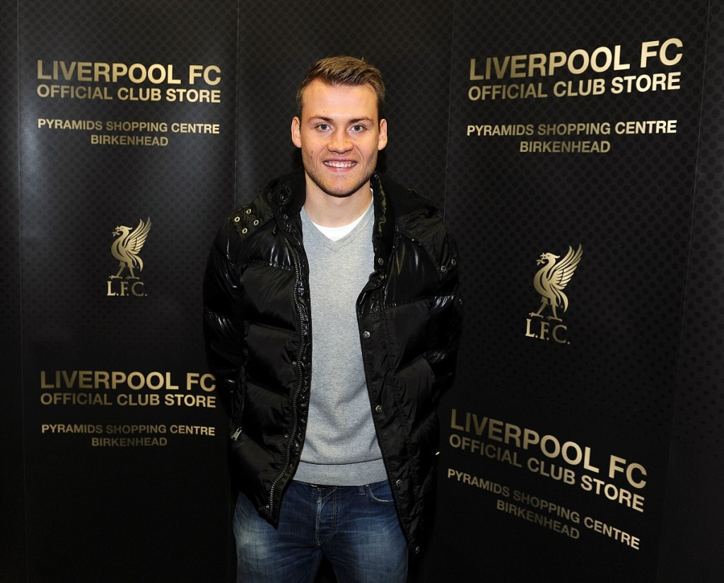 Liverpool's new store at Birkenhead, officially opened by Simon Mignolet