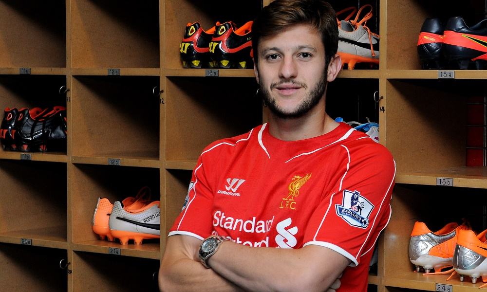 Adam Lallana after signing for Liverpool (Pic; LFC)