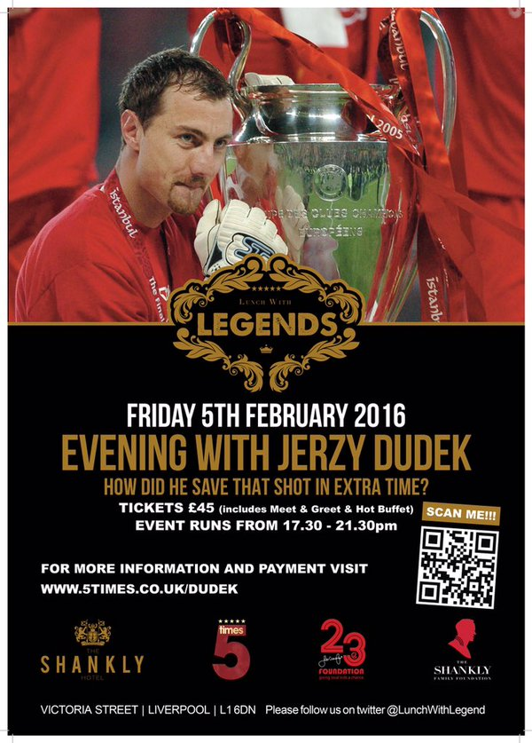 An Evening with Jerzy Dudek in Liverpool