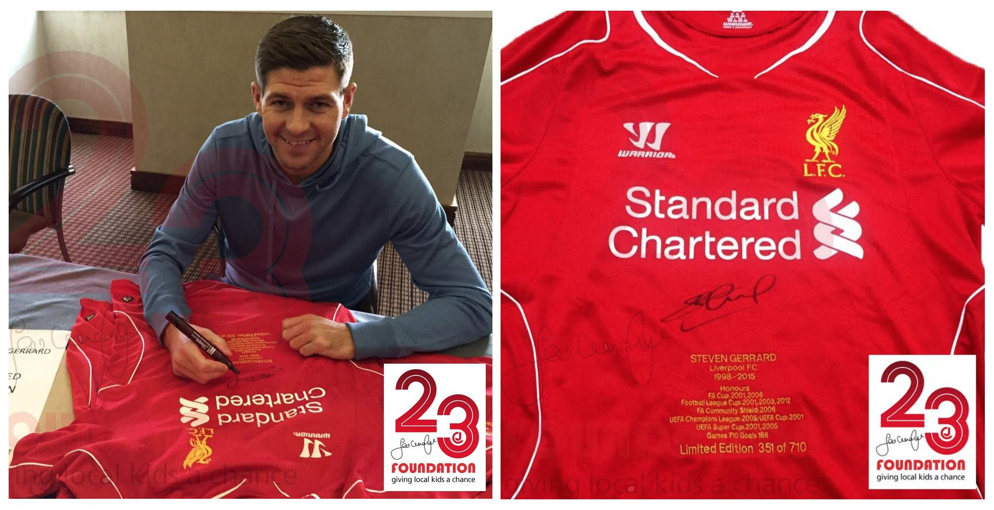 f94c3d6f3 WIN  Limited-edition signed and numbered Steven Gerrard shirt - Anfield Road