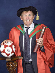 Kenny Dalglish receives an honorary degree of Doctorate of Science (DSc) at University of Ulster