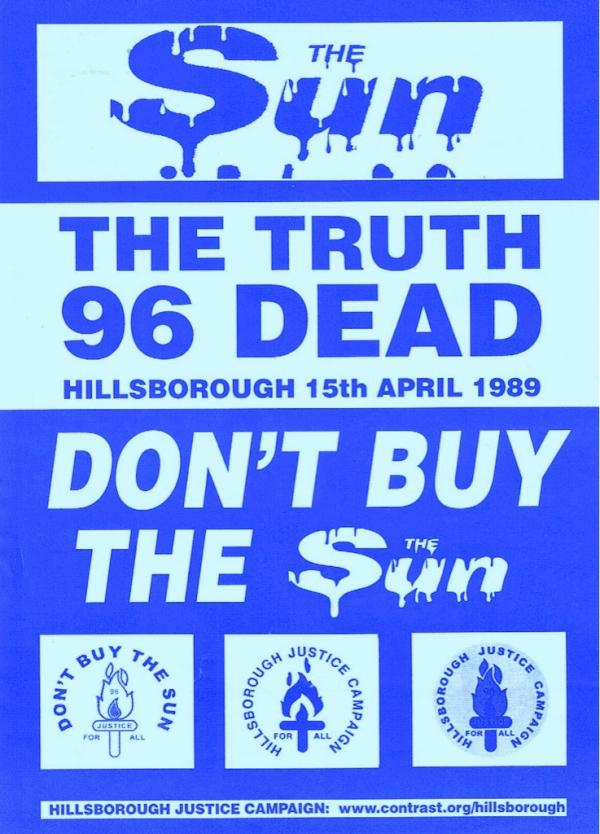 Don't Buy The Sun Poster - the Blue version for Everton fans