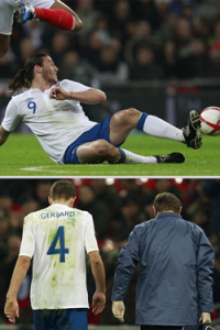 Carroll and Gerrard on England duty