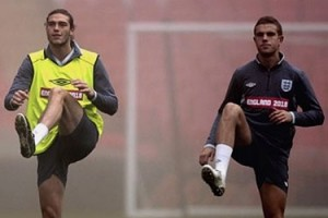 Andy Carroll and Jerome Henderson on international duty
