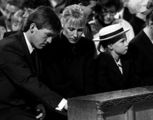 The Dalglish family attending the Hillsborough Service