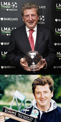 Hodgson with a couple of his awards
