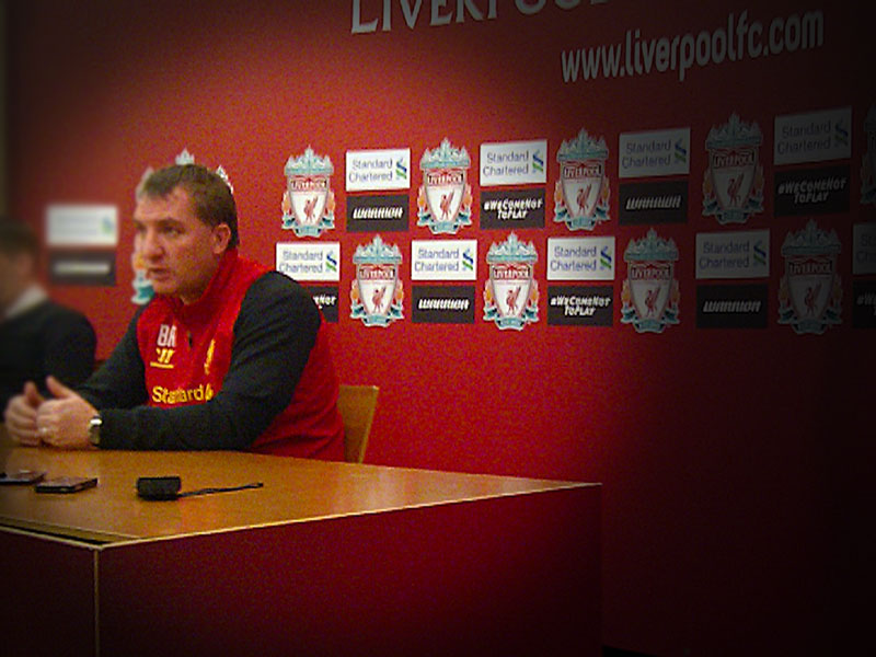 Brendan Rodgers at Melwood December 2012