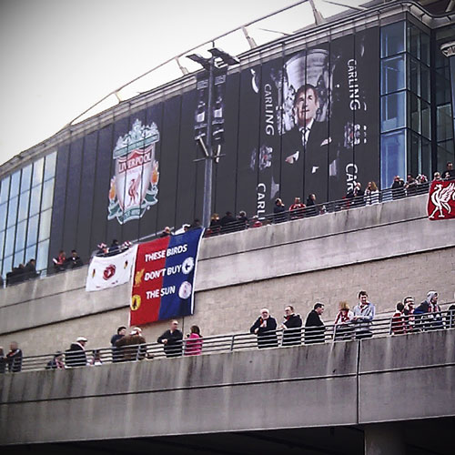 These birds Don't Buy the Sun - Carling Cup Final 2012
