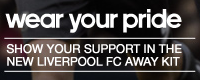 Wear your pride - LFC away kit slogan
